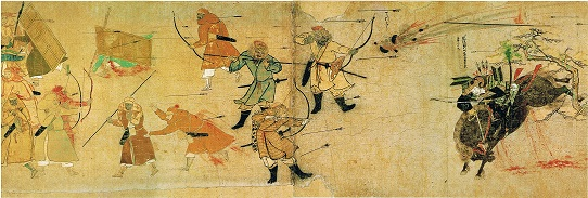 Mongols invade Japan