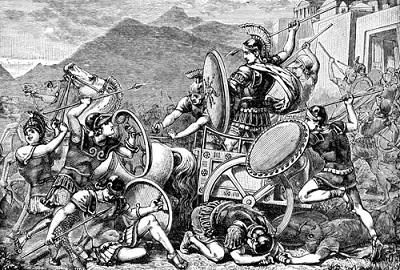 War between the kingdoms (ca. 950 B.C.)