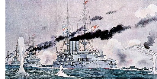Image result for russian japanese fleet war 1904 images