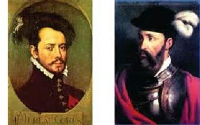 Cortés and Pizarro