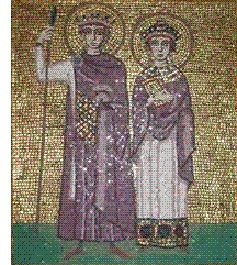 Justinian (ca. 482-565) and Theodora (ca. 500-548)
