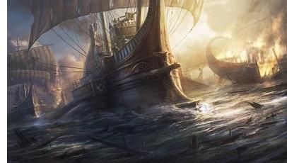 Númenórean Ships Return to Middle Earth
