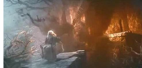 Gandalf drives off Sauron